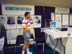 SMART's Vice President of Product and Technology, Paul LeBeau at AATOD 1992 in Orlando, FL.